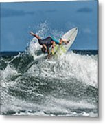 Surfing Fun Metal Print