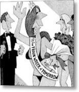 New Yorker April 14th, 2008 Metal Print