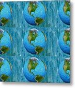 3d Render Of Planet Earth 1 Metal Print