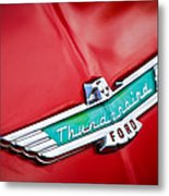 1956 Ford Thunderbird Emblem Metal Print
