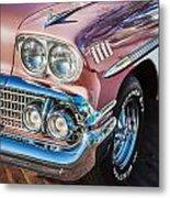 1958 Chevrolet Bel Air Impala Painted  Metal Print