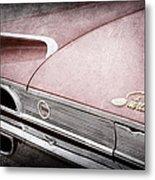 1960 Ford Galaxie Starliner Taillight Emblem Metal Print