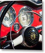 1961 Alfa Romeo Giulietta Spider Steering Wheel Emblem -1239c Metal Print