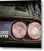 1989 Ferrari 328gtb Taillight Emblem Metal Print