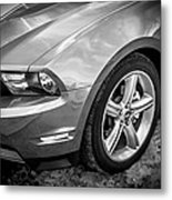 2010 Ford Mustang Convertible Bw Metal Print