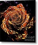 4 4 Echo Rose Metal Print