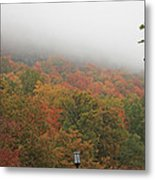 A Foggy Autumn Day At The United States Military Academy At West Metal Print