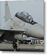 A Sukhoi Su-30mkm Of The Royal Metal Print