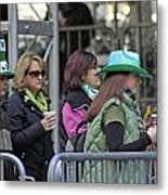 A View Of Some People Enjoying The 2009 New York St. Patrick Day Metal Print