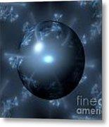 Abstract Blue Globe Metal Print