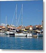 Aegina Port Metal Print