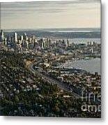 Aerial View Of Seattle Metal Print