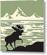 Alaska Denali National Park Poster Metal Print