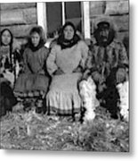Alaska Eskimo Family Metal Print
