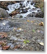 Alaskan Waterfall Metal Print
