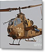 An Ah-1s Tzefa Attack Helicopter Metal Print