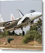 An F-15c Baz Of The Israeli Air Force Metal Print