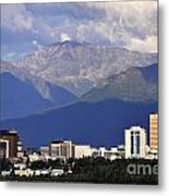 Anchorage Skyline Metal Print