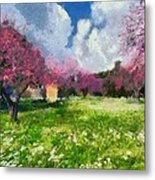 Ancient Olympia During Springtime Metal Print