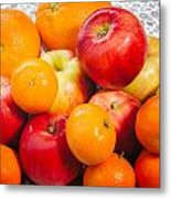 Apple Tangerine And Oranges Metal Print