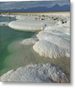 Atacama Salt Lake Near San Pedro De Metal Print
