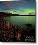 Aurora Borealis Northern Lights Display Metal Print