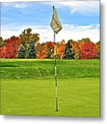 Autumn Golf Metal Print