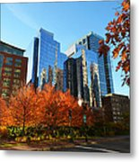 Autumn In Boston Metal Print