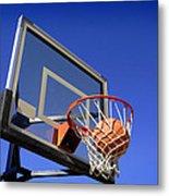 Basketball Shot Metal Print by Lane Erickson