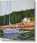 Bass Harbor Light Metal Print by Karol Wyckoff