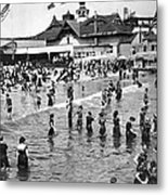 Bathers At Coney Island Metal Print