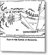 Battle Of Monmouth, 1778 Metal Print