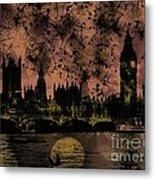 Big Ben On The River Thames Metal Print