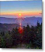 Blue Ridge Parkway Autumn Sunset Over Appalachian Mountains  Metal Print
