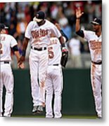 Boston Red Sox V Minnesota Twins Metal Print