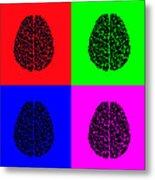 4 Brain Pop Art Panel Metal Print