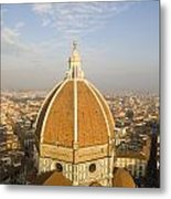 Brunelleschi's Dome At The Basilica Di Santa Maria Del Fiore Metal Print
