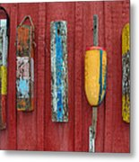 Buoys At Rockport Motif Number One Lobster Shack Maritime Metal Print