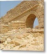 Caesarea Israel Ancient Roman Remains Metal Print