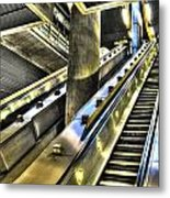 Canary Wharf Station Metal Print