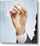 Cardiology, Conceptual Image Metal Print