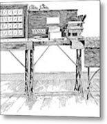 Census Machine, 1890 Metal Print