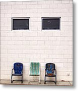 Ace Chairs Palm Springs Metal Print