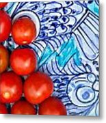 Cherry Tomatoes Metal Print