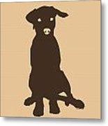Chocolate Labrador Metal Print