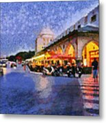 City Of Rhodes During Dusk Time Metal Print