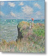 Cliff Walk At Pourville Metal Print