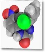 Clonazepam Drug Molecule Metal Print