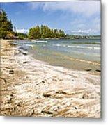 Coast Of Pacific Ocean On Vancouver Island Metal Print