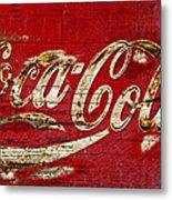 Coca Cola Sign Cracked Paint Metal Print